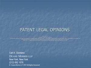 Patent Legal Opinions