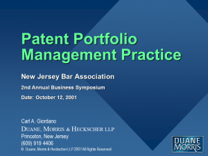 Patent Portfolio Management